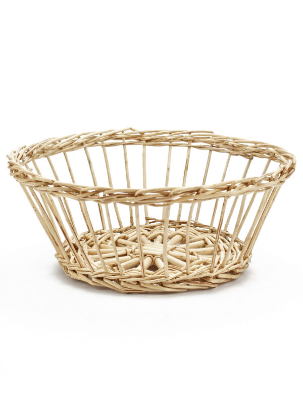 Roman Wicker Basket with Straight Weaving