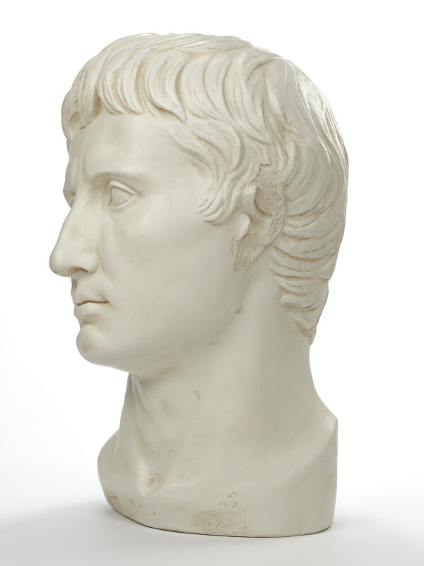 Augustus bust of the first roman emperor - full size head