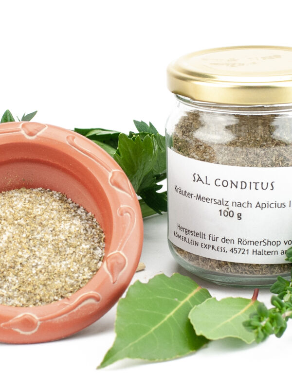 Sal Conditus: Herbs and Sea Salt Blend After Apicius (100 grams)
