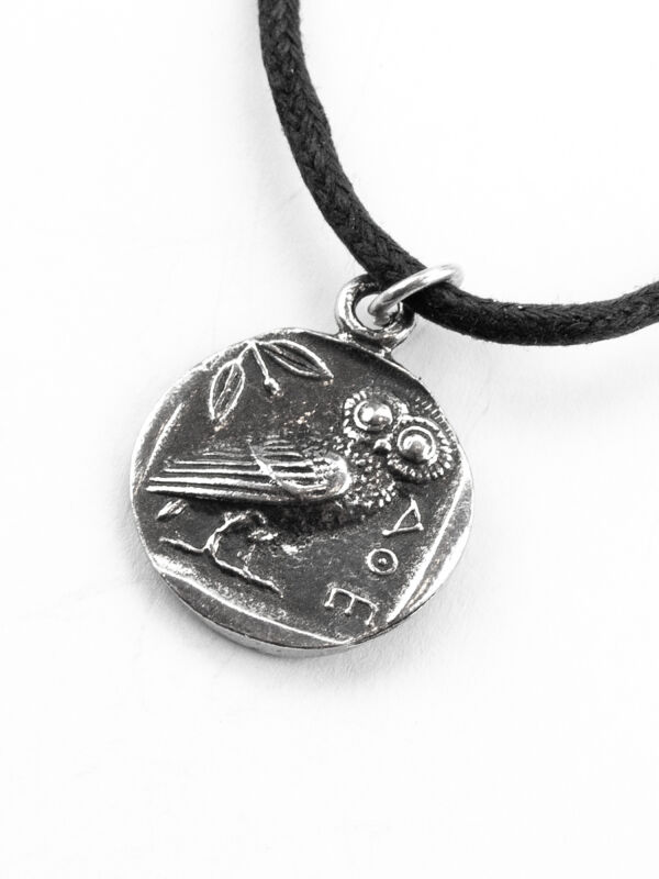Pendant owl Athens, coin amulet