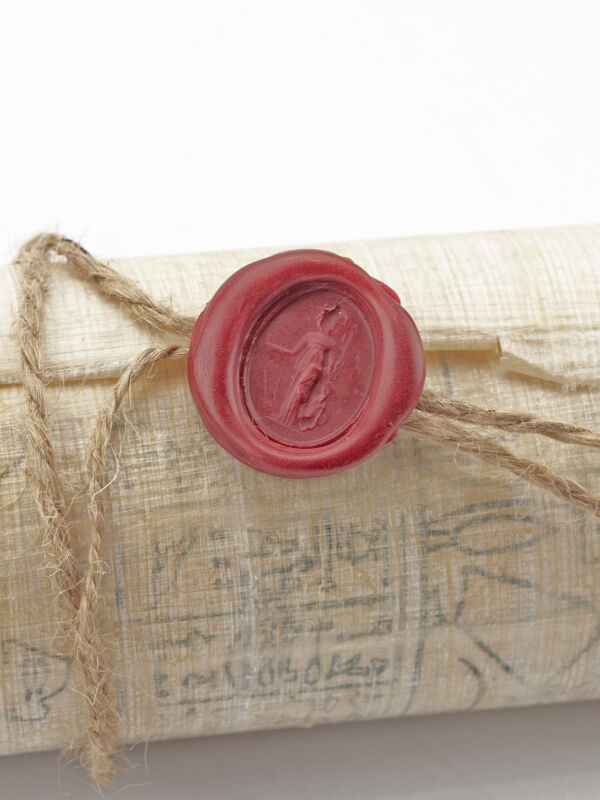 Wax seal with Minerva - genuine roman ring seal