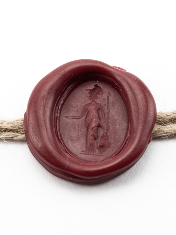 Roman wax Seal with Minerva - a real seal of a ring