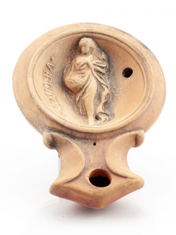 Virgin Roman zodiac sign oil lamp