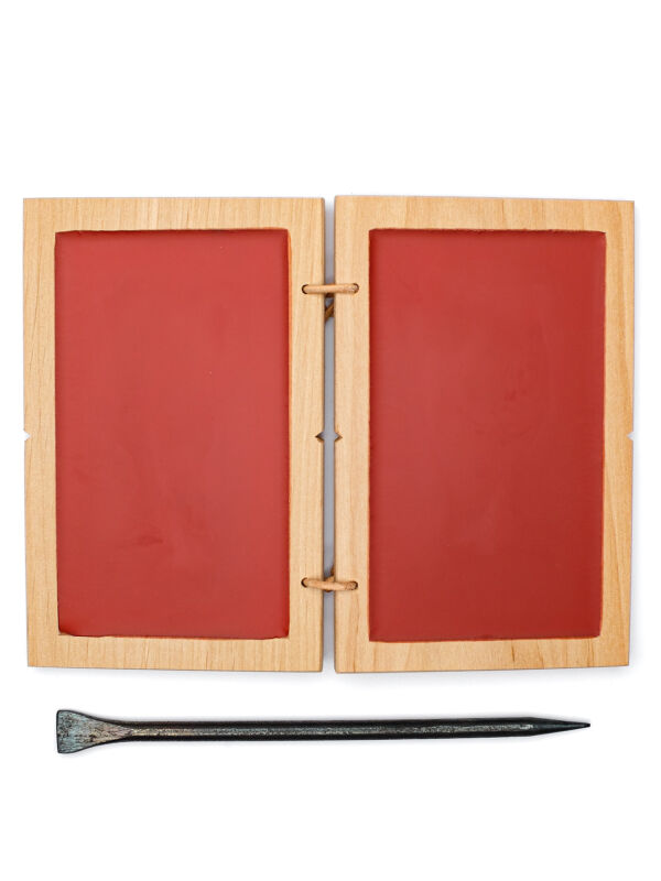 Wax tablet double | red writing tablets including metal...