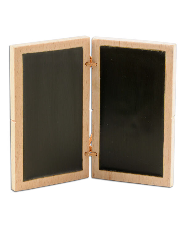 Wax tablet 12x7cm, diptych Felicitas, black double writing tablet, Tabula ceratae