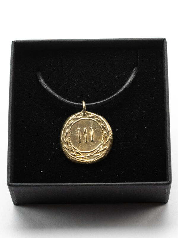 Pendant brothel coin Spintria III, bronze amulet