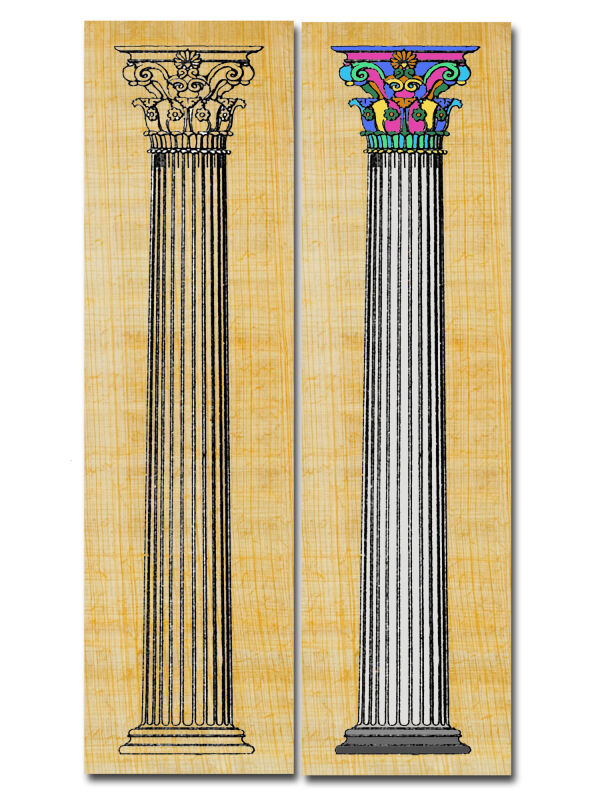 Bookmark column Corinthian - the Roman column