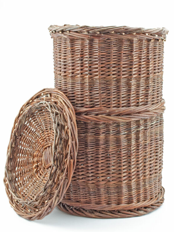 Cista wicker basket - scroll container with lid for...