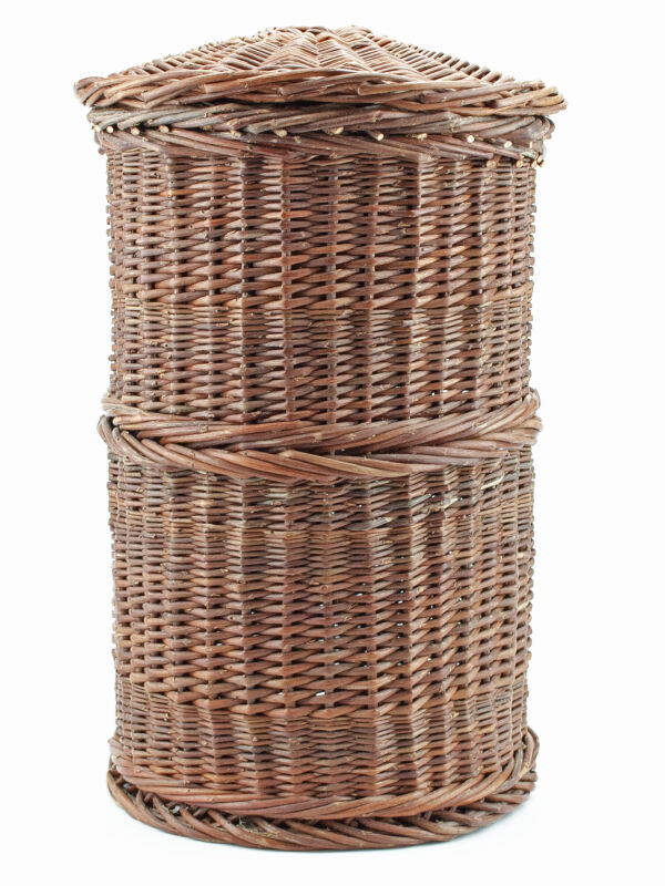 Cista wicker basket - scroll container with lid for papyri rolls