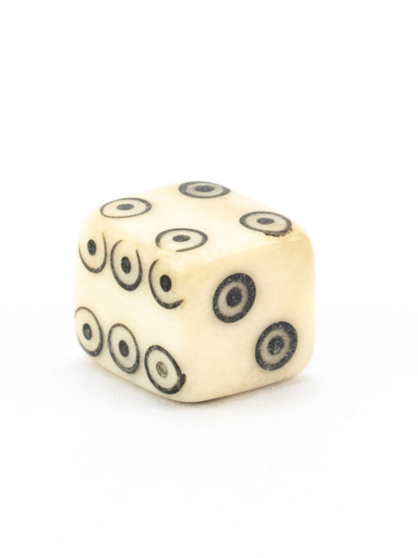 Roman bone cube with circular eyes authentic replica