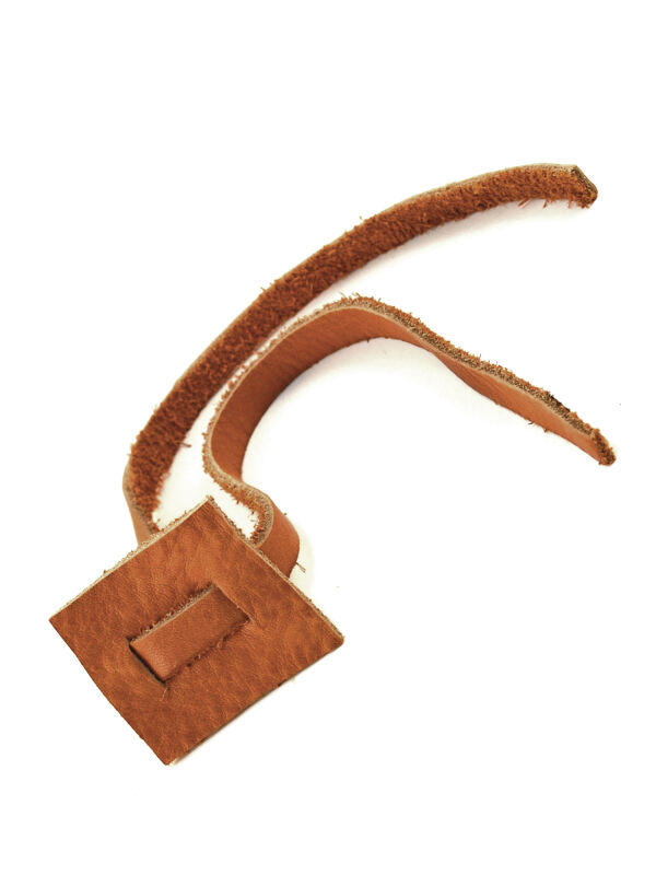 Leather strap for a scroll