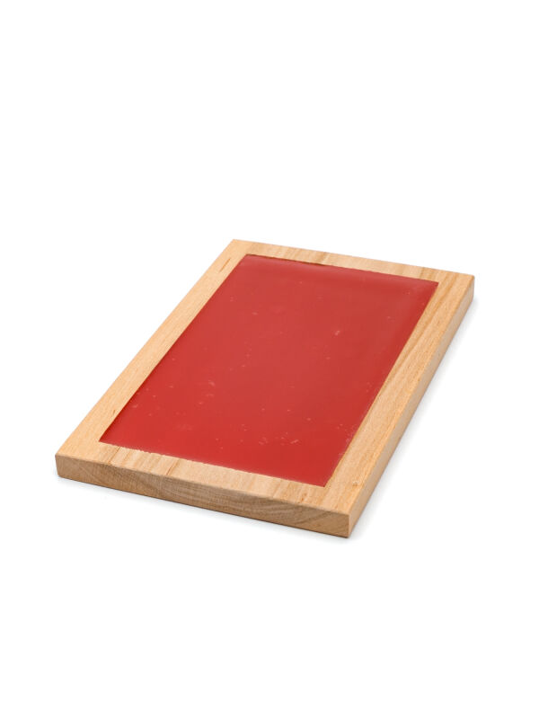 Wax table 14x9cm, Tabula cerata Decius, red writing tablet with beeswax, ancient roman tablet