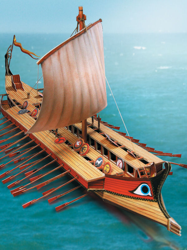 Greek ship Bireme Schreiber cut-out-sheets
