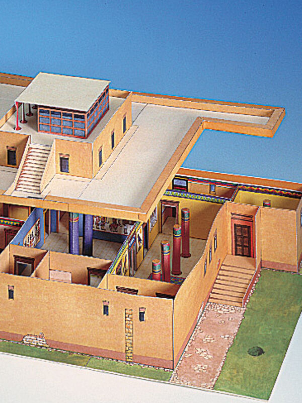 Cut-out-sheet Egyptian domestic dwelling