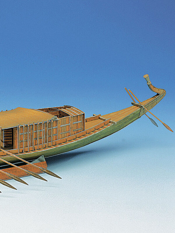 Schreiber-Bogen, Egyptian pharaonic ship, cardboard model...