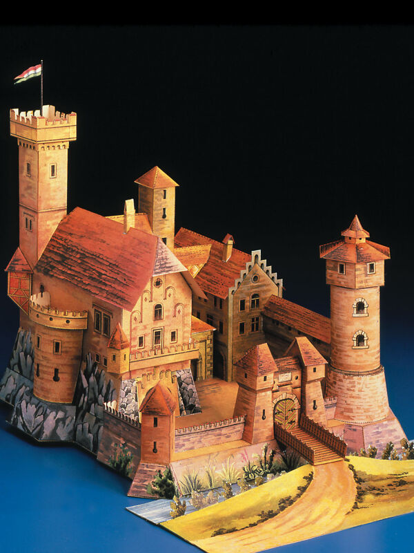 Cut-out-sheet romantic knights castle