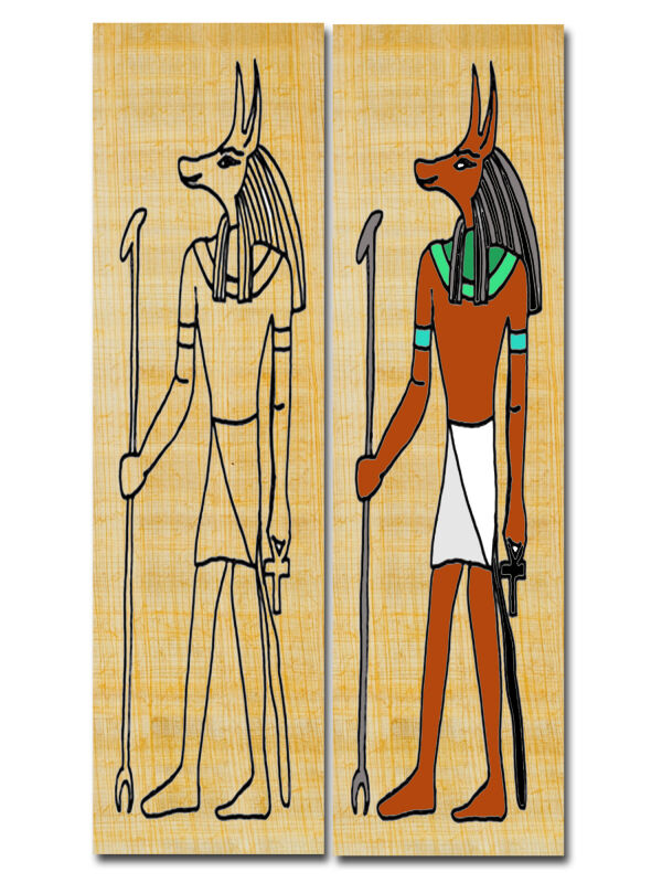 Constructing bookmark Egypt god Anubis