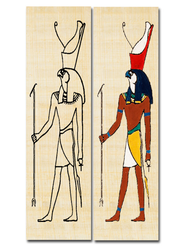 Create a bookmark Egypt god Horus