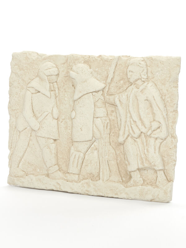 Relief gladiator fight, ancient roman wall decoration