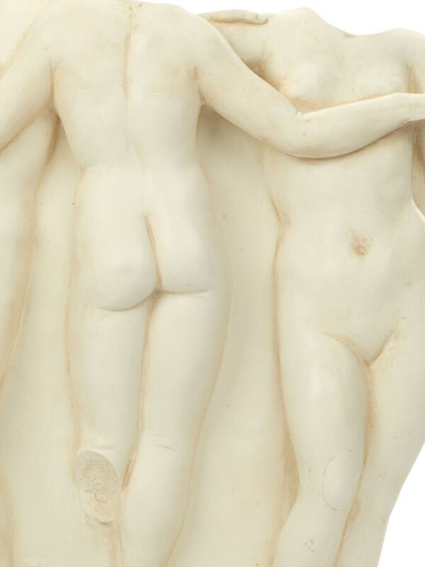 Relief The Three Graces Charites, ancient Greek goddesses wall decoration