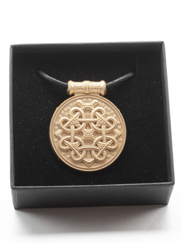 Pendant Haithabu, 24ct gold plated matt, Viking amulet