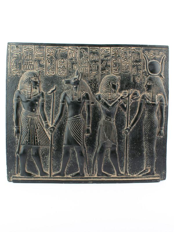 Seltenes Relief von ägyptischen Königen und Göttern jetzt kaufen
