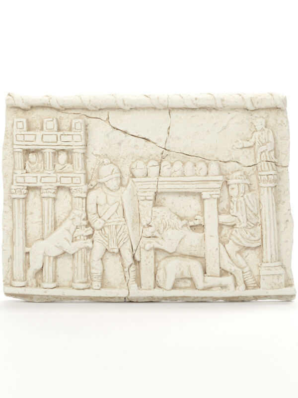 Gladiators fight in the Circus Maximus Relief