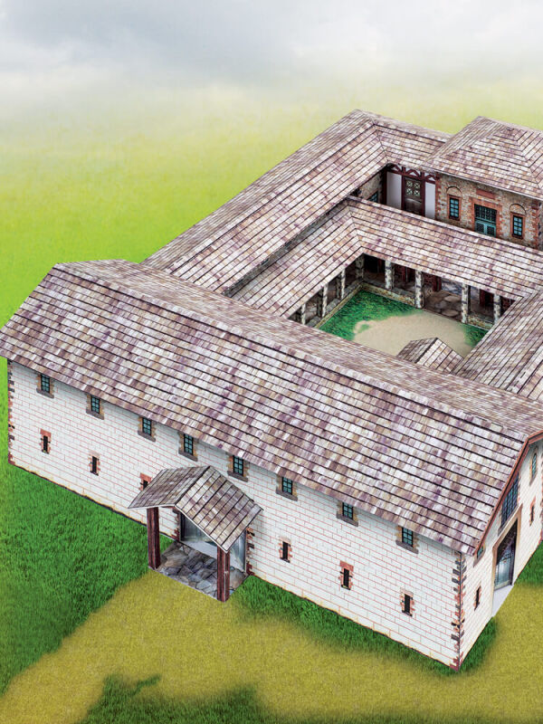 Cut-Out Sheet Principia Roman Military Building With...