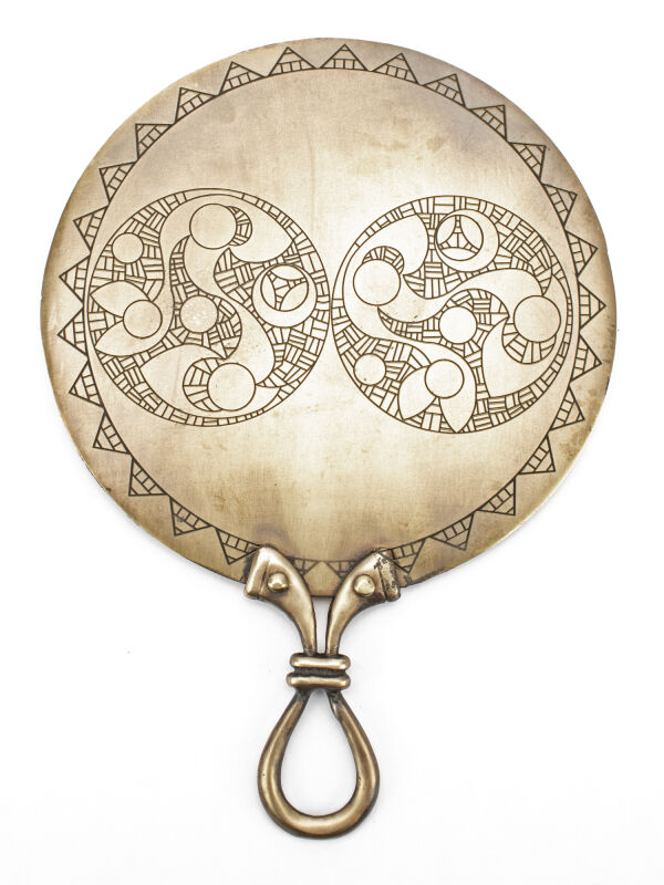 Celtic mirror made of stable brass