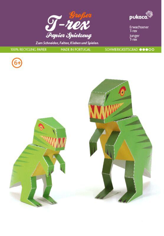 trex groß dinosaurier  diy bastelbogen für papiermodelle