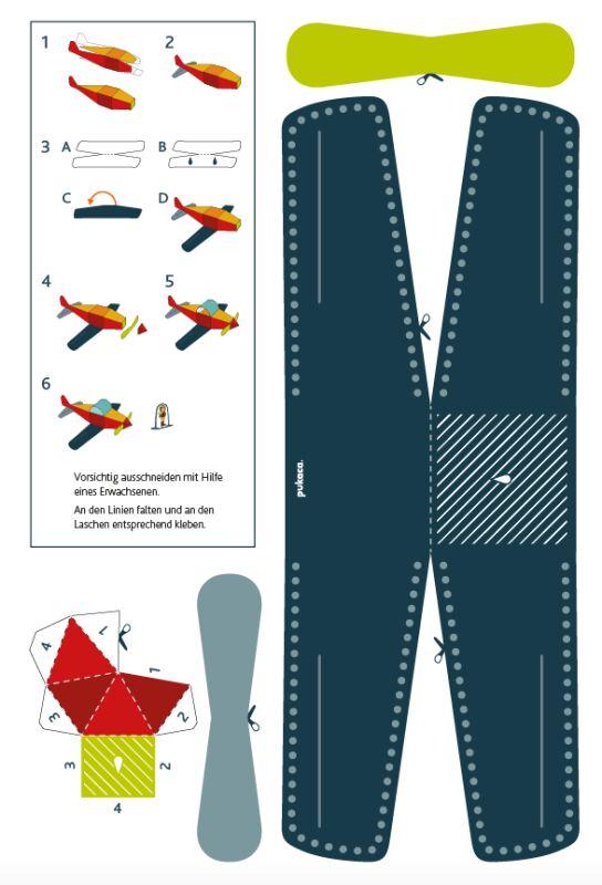 Flugzeug Papier Bastelbogen