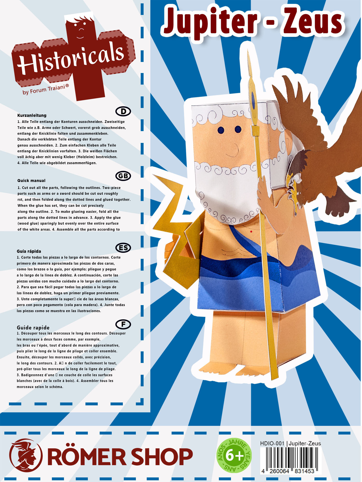 Götter Welten I Bastelvorlagen römischer /& griechischer Götter