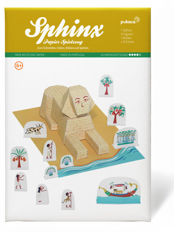 Sphinx handicraft templates Egypt handicraft set handicrafts with children - handicraft ideas childrens birthday party - cardboard model making cardboard models