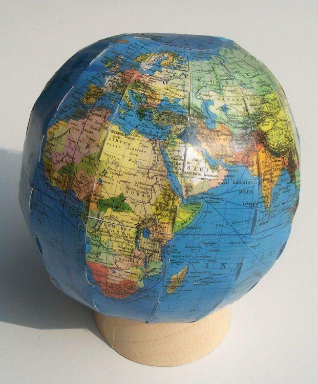 Bastelvorlagen Weltkugel Globus, Kartonmodellbau didaktischer Unterricht