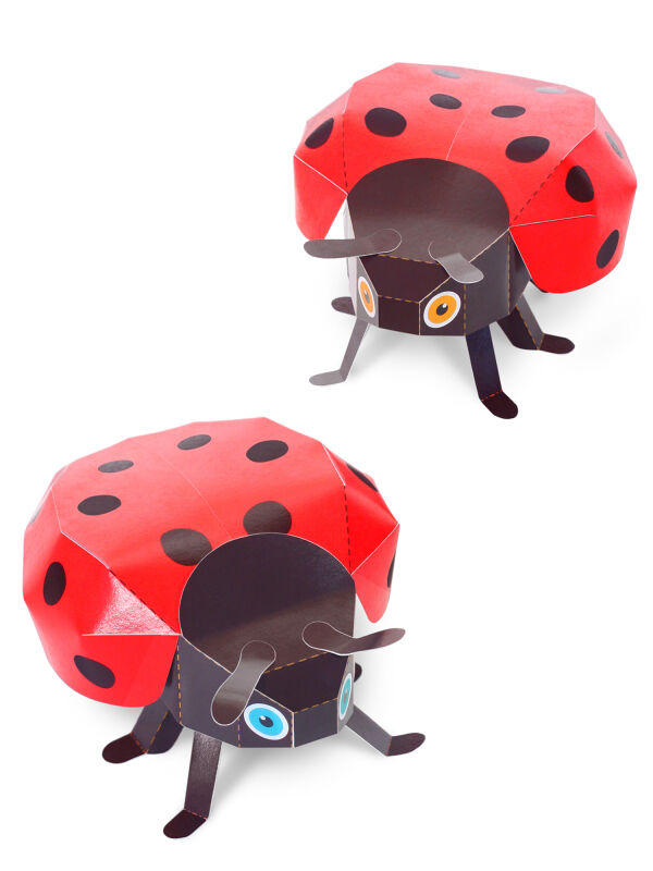 Ladybugs Cut-out paper toys