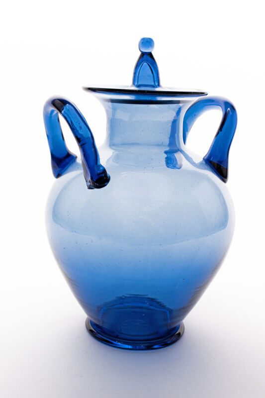 Roman glass urn - blue