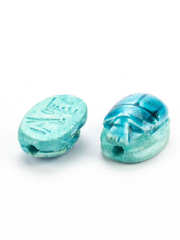 Egyptian scarab faience - turquoise