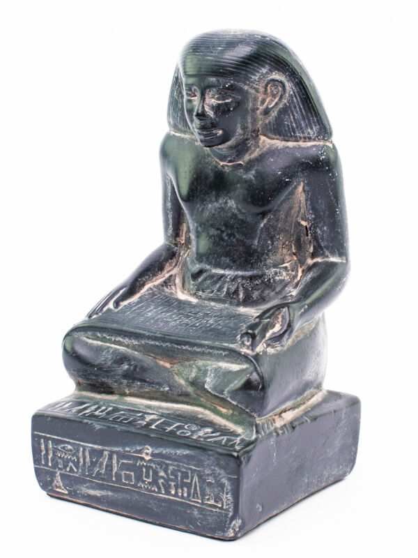 Statue scribe in ancient Egypt, Egyptian sculpture replica