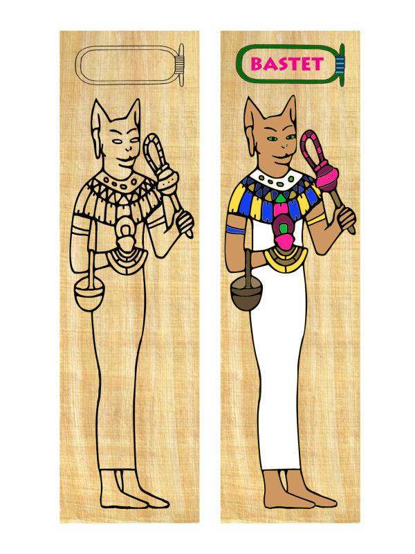 Lesezeichen Basteln Bastet Gestalten Agypten Unterricht