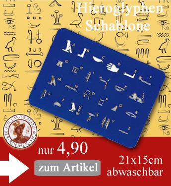 Hieroglyphen Schablone Unterrichtsmaterial