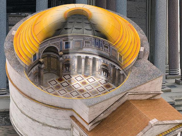 Die Pantheon Kuppel